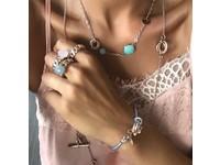 Tri rings leatherbracelet - Rose/ Pink