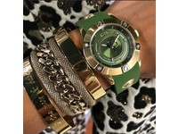Malien single chain armband - Chapagne goud