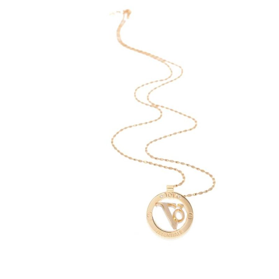 TOV medallion 85 cm necklace - Gold/ Silver