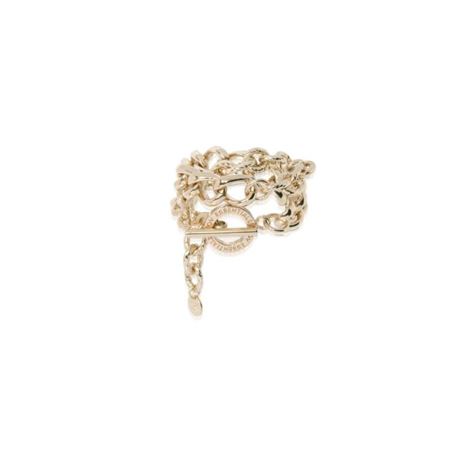 Wrap around gourmet bracelet - Light Gold