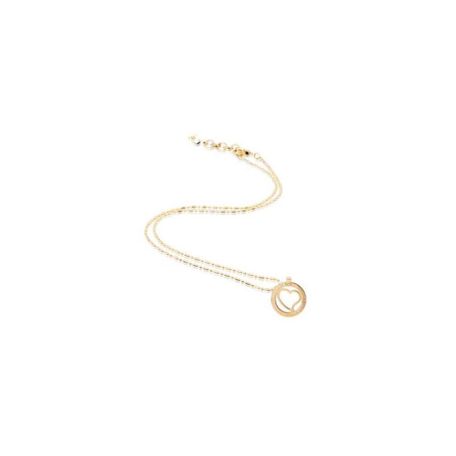 Heart medaillon 45cm necklace - Gold