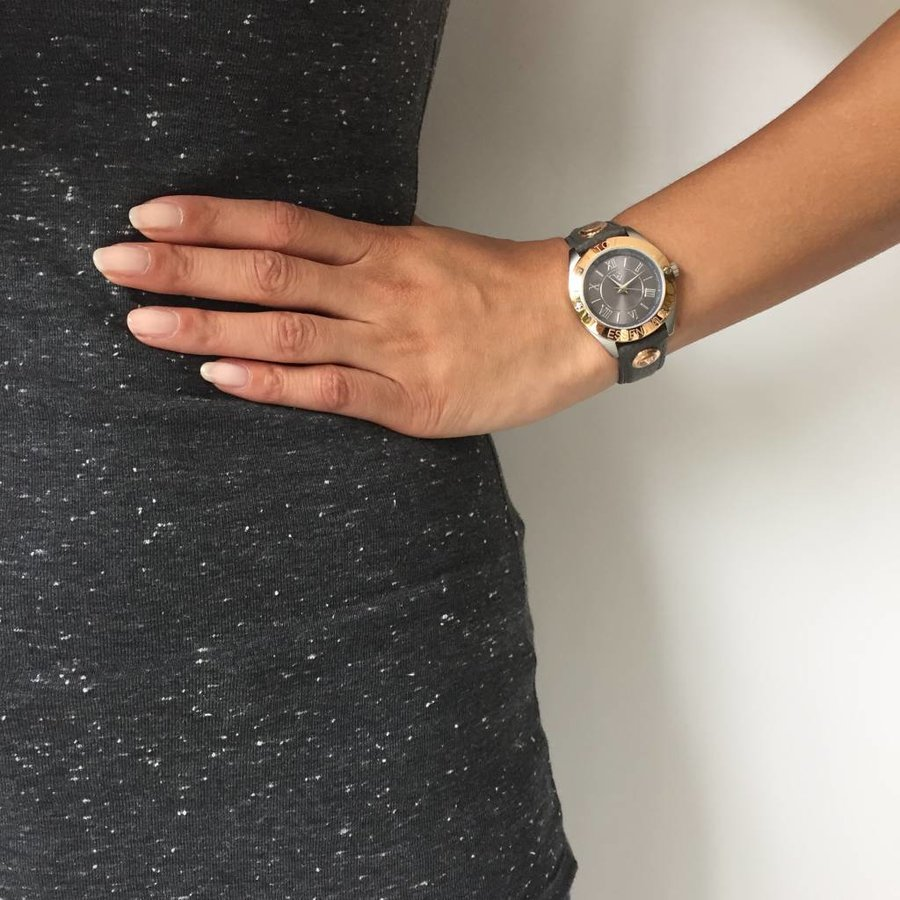 Kim Rose/ Steel (antraciet)  - Horloge