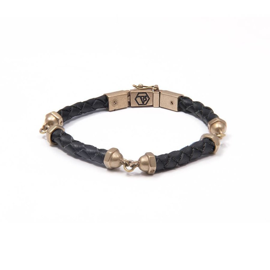THE SCREW YOU BRACELET - BLACK - BRASS