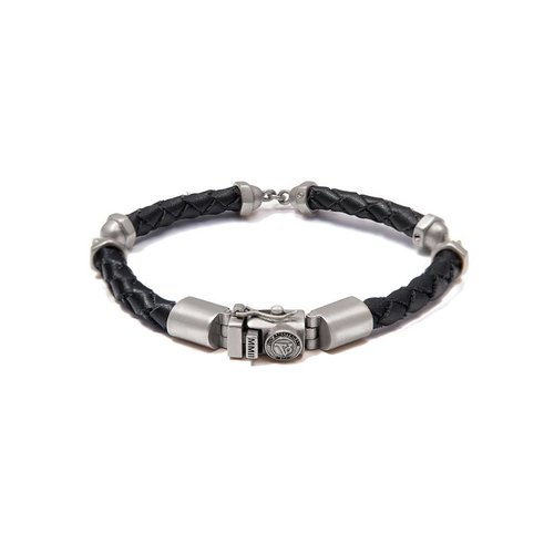 THE SCREW YOU BRACELET - BLACK - SILVER