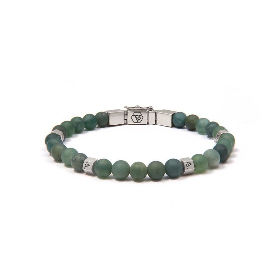 THE MEN WITH BALLS 6MM - JADE - SILVER