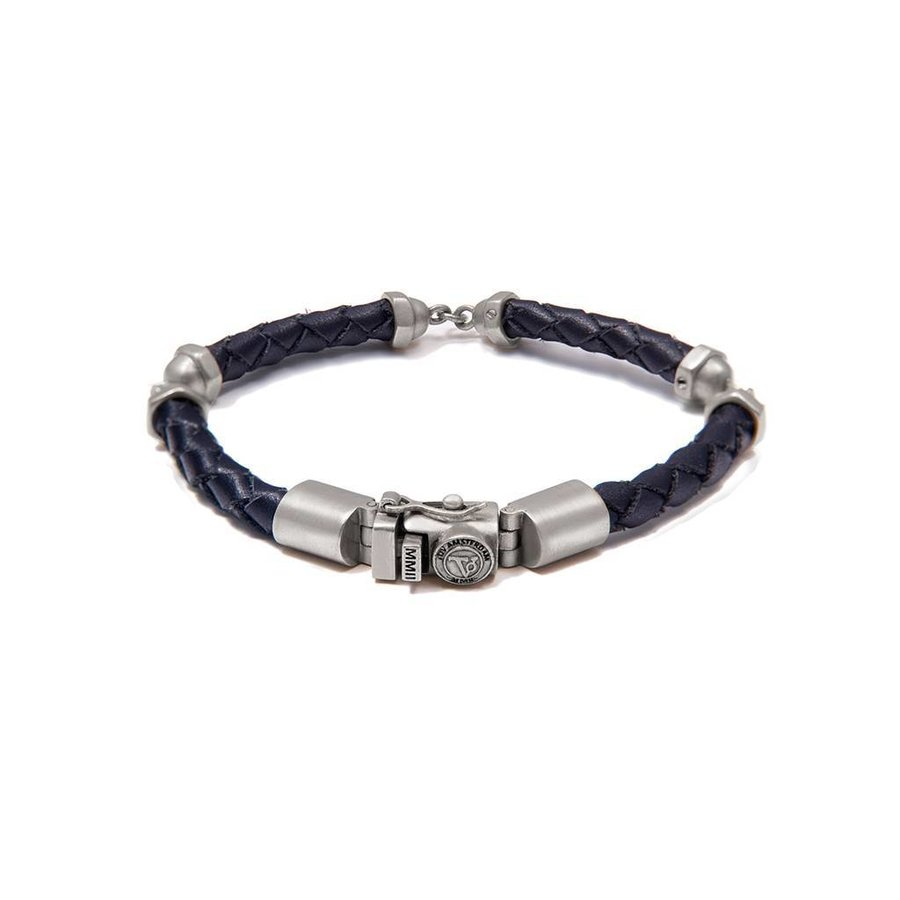 SCREW YOU BRACELET - DARK BLUE - SILVERD