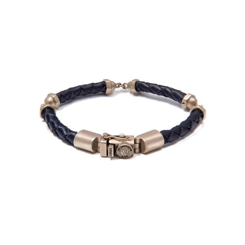 SCREW YOU BRACELET - DARK BLUE - BRASS