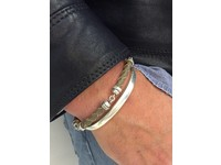 THE SCREW YOU BRACELET - TAUPE - SILVER