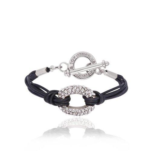 Diamond cords armband- Champagne goud/ Zwart