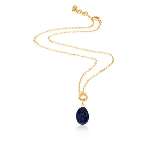 Pure stone necklace - Gold/Navy
