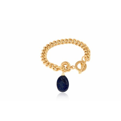 Pure stone solo chain - Gold / Navy