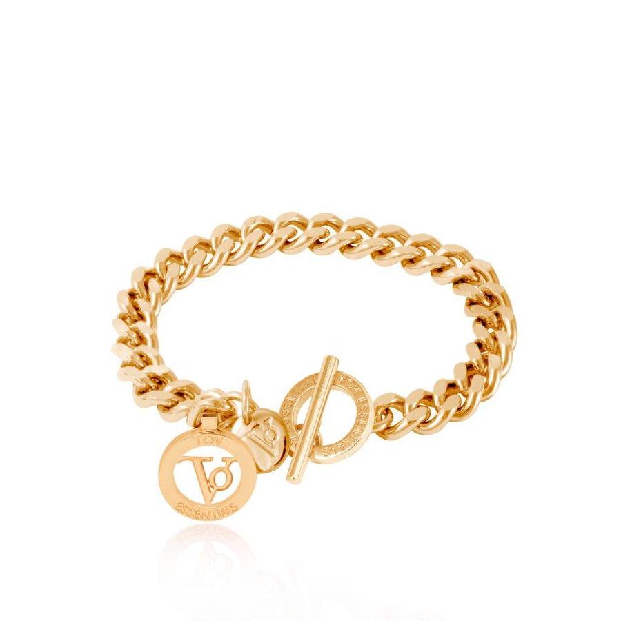 Ini mini flat chain bracelet - Gold