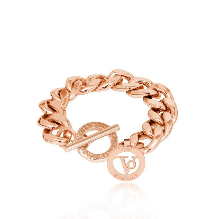 Small Flat Chain - Armband - Rose