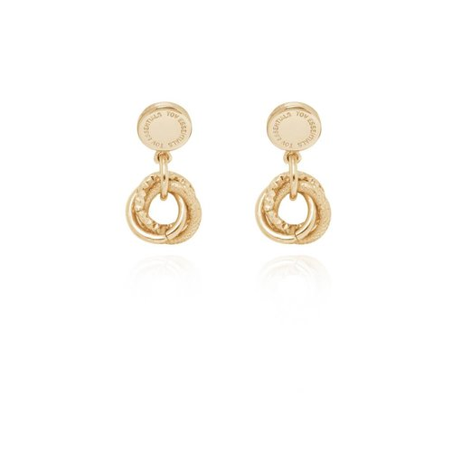 stud earring - Light Gold