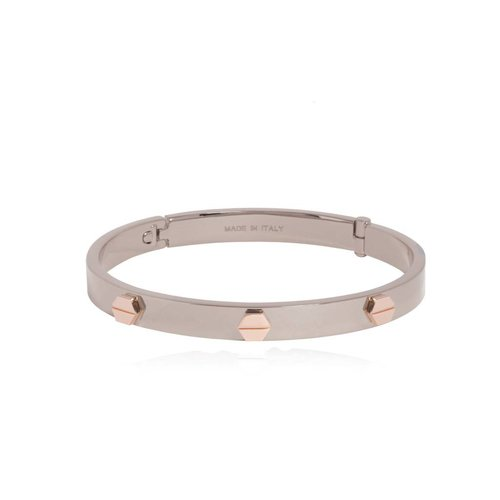 Fine rivets bangle - White Gold/Rose