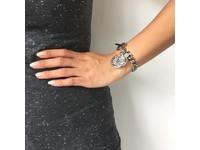 Mini Flat Chain - Armband - Wit Goud