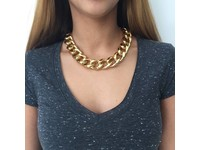 Flat gourmet collier - Champagne Goud