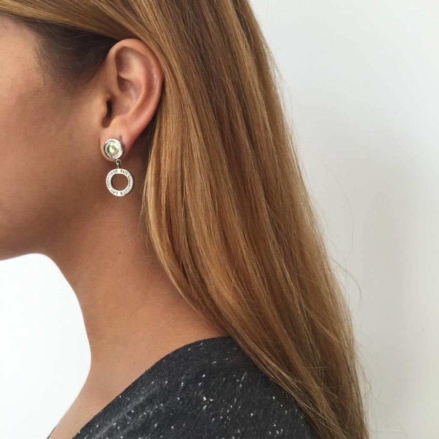 1 position oorbellen - Goud