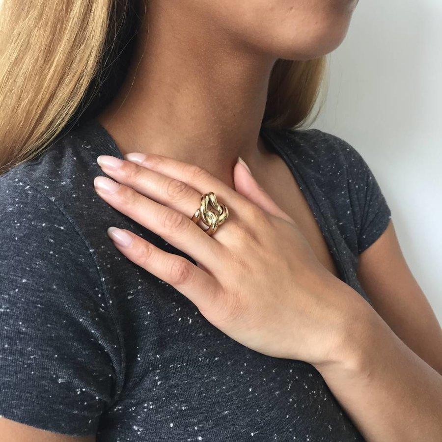 Plain gourmet ring - White Gold