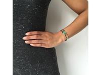 Vintage Gem armband - Champagne Goud/Aquamarine