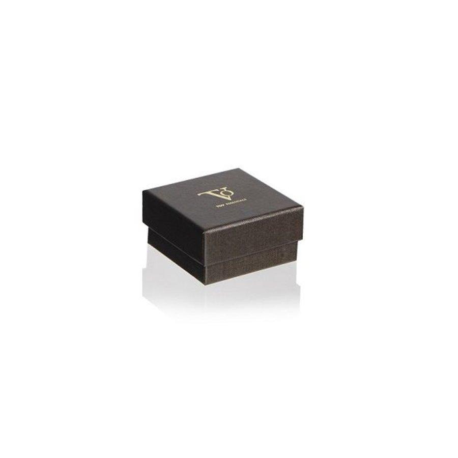 TOV rivets bangle - Rose/White Gold