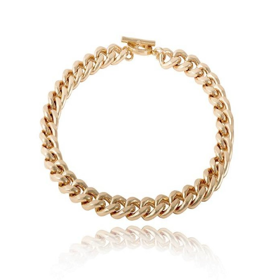 Small flat chain collier - Light Gold