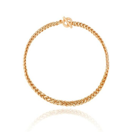 Mini spiga collier - Goud