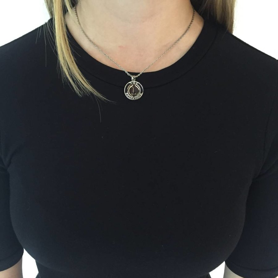 Iniziali necklace 2.0 - Rose/White Gold - Letter M