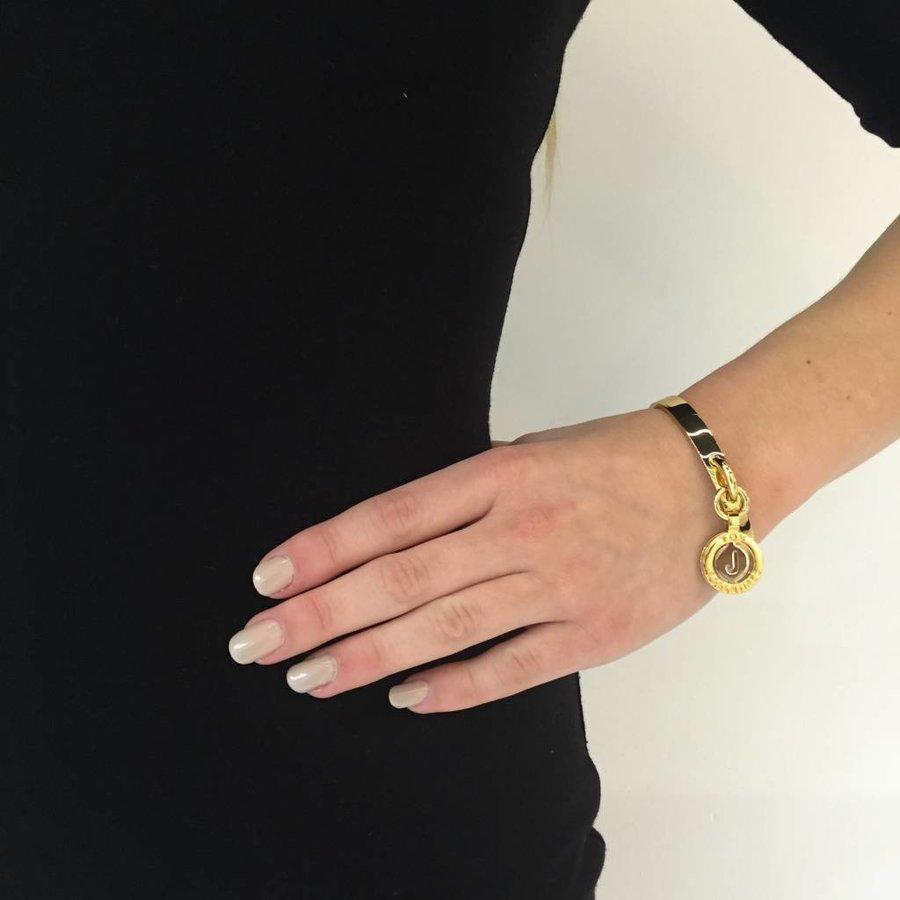 Iniziali bangle (Armband) 2.0 - Rose/Wit Goud - Letter N