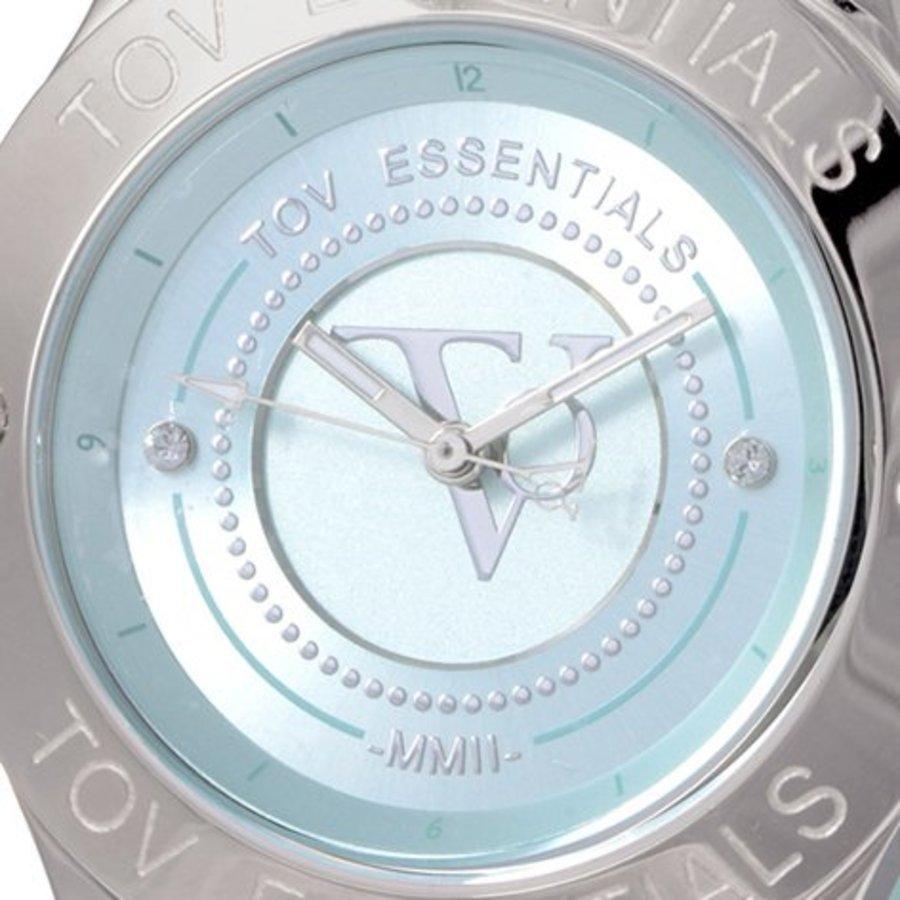 Blue Bay mint green/steel watch