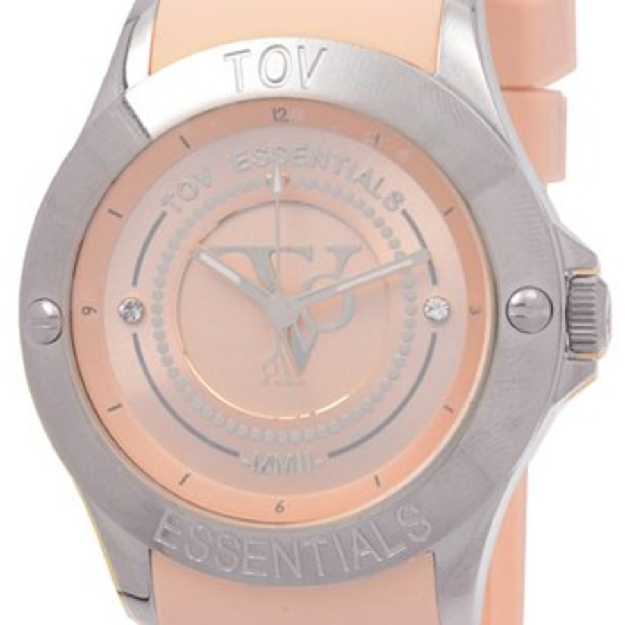 Tropical beach steel watch