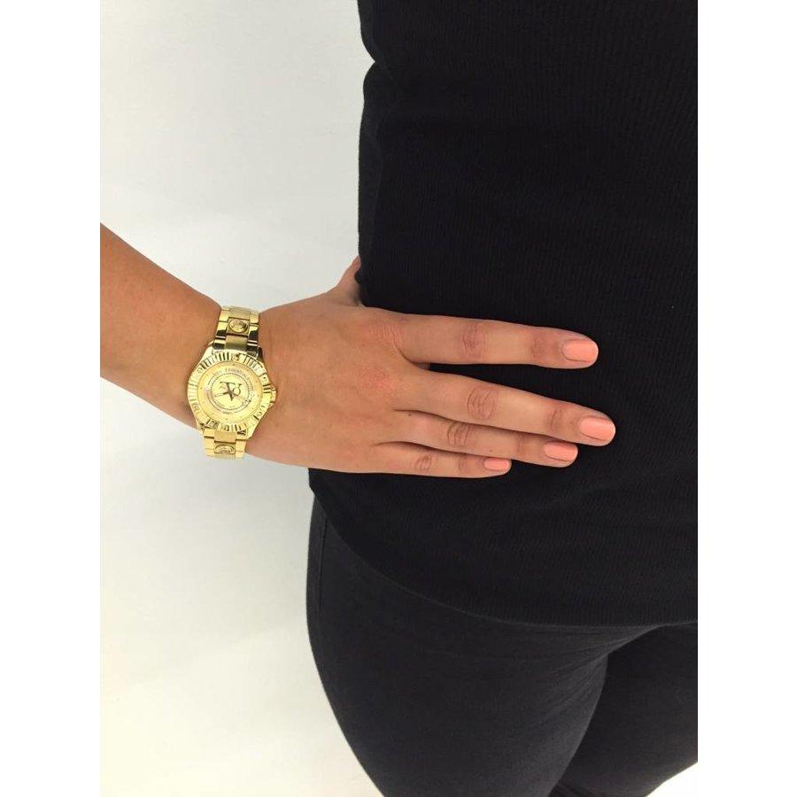Golden sun gold watch