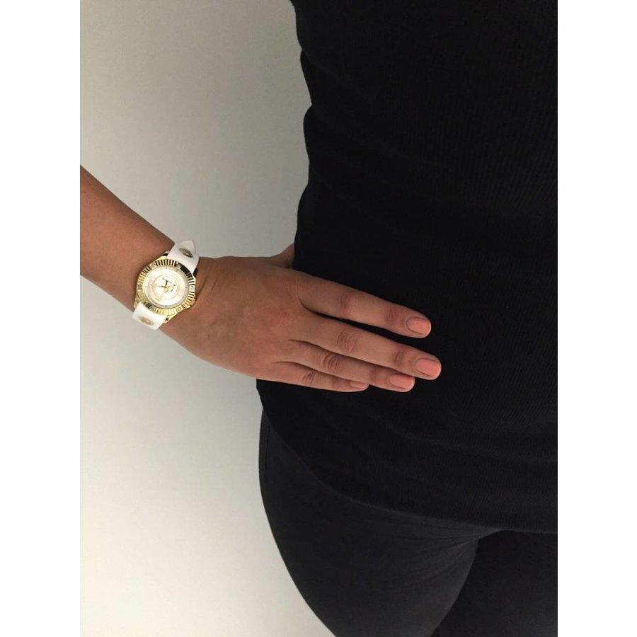 White beach gold watch