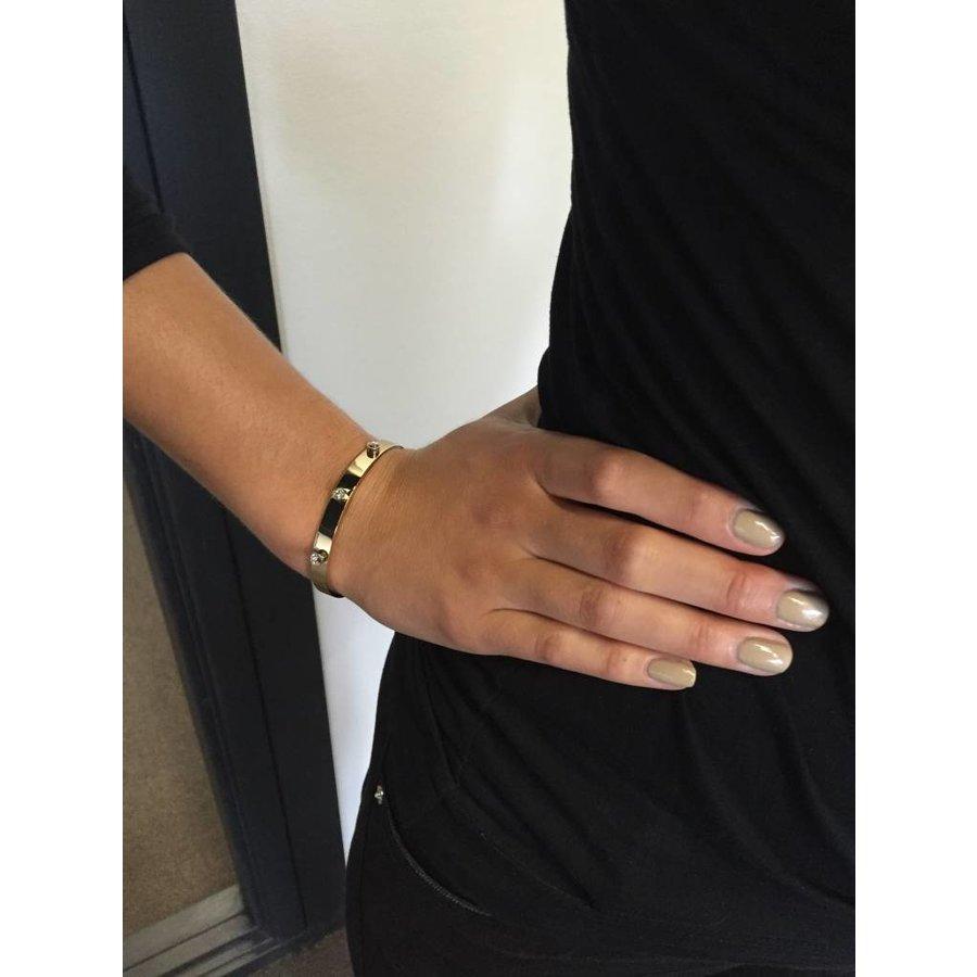 Fine stone bangle - Rose/Golden