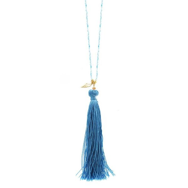 Necklace Cassia, light-blue