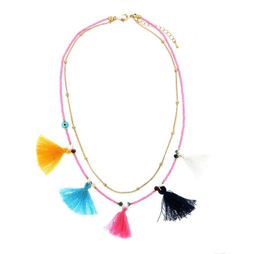 Necklace Harda, gold/multi