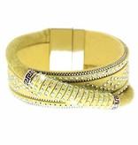Armband Marisol gelb/silber/crystal