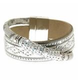 Bracelet Marisol white/silver/crystal