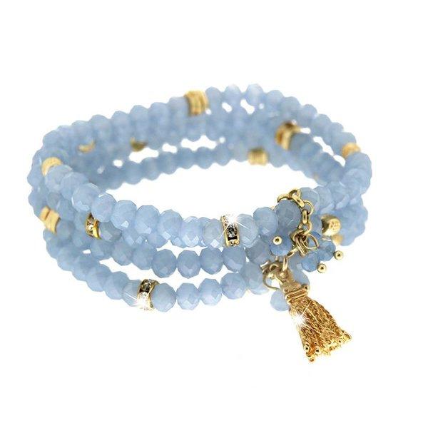 Armband Delia, blau/gold