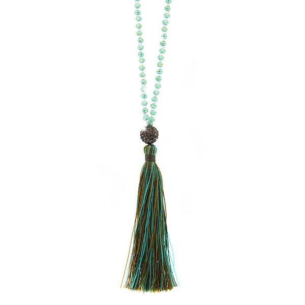 Necklace Catia, mint/blue diamond/green mix
