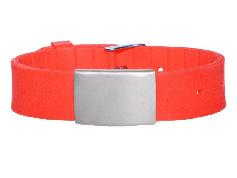 Id's me HealthID Maxi Rood SOS Armband