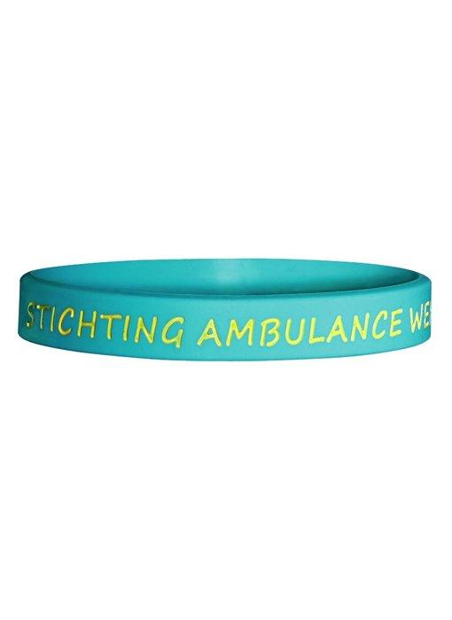 Id's me Stichting Ambulance Wens Siliconen Armband