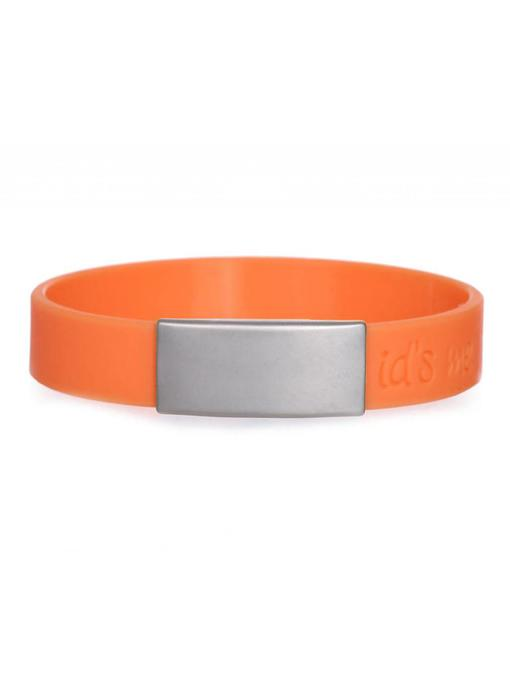 Id's me SportID Mini Oranje SOS armband