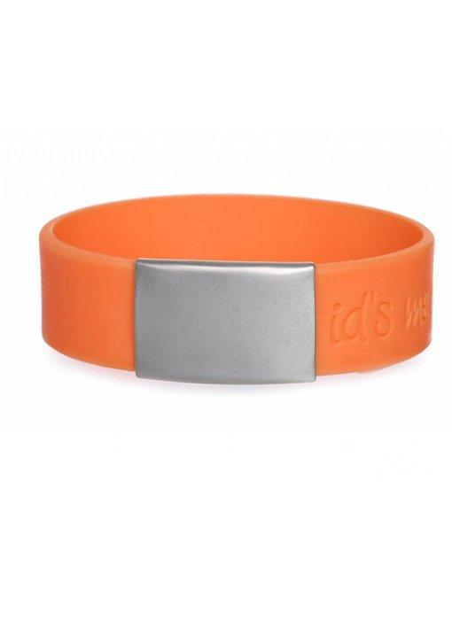 Id's me SportID Maxi Oranje SOS armband