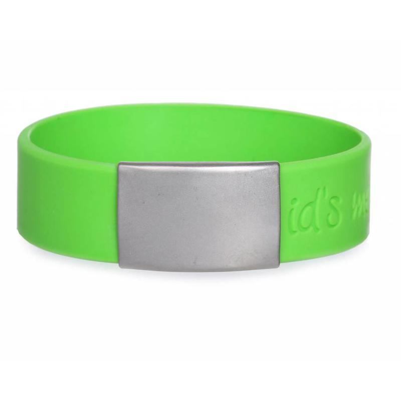 Id's me SportID Maxi Groen SOS Armband