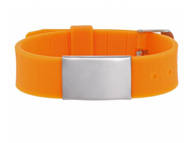 Id's me HealthID Maxi Oranje SOS Armband