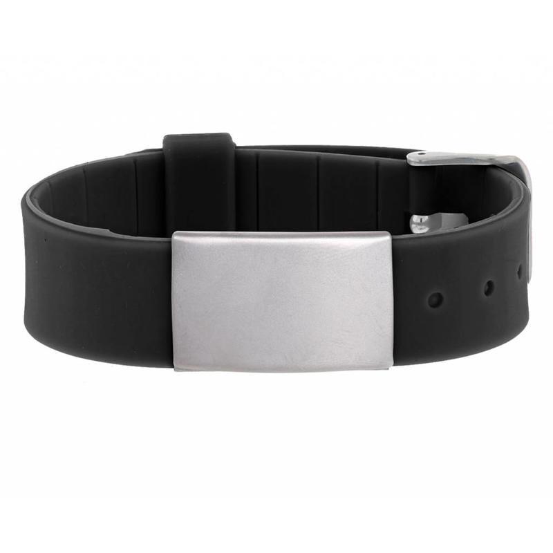 Id's me HealthID Maxi Zwart SOS Armband