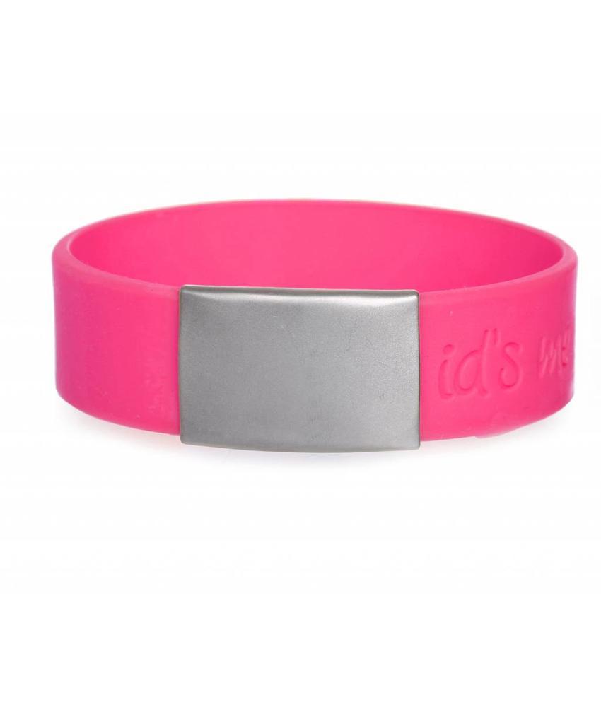 Id's me SportID Maxi Roze SOS armband