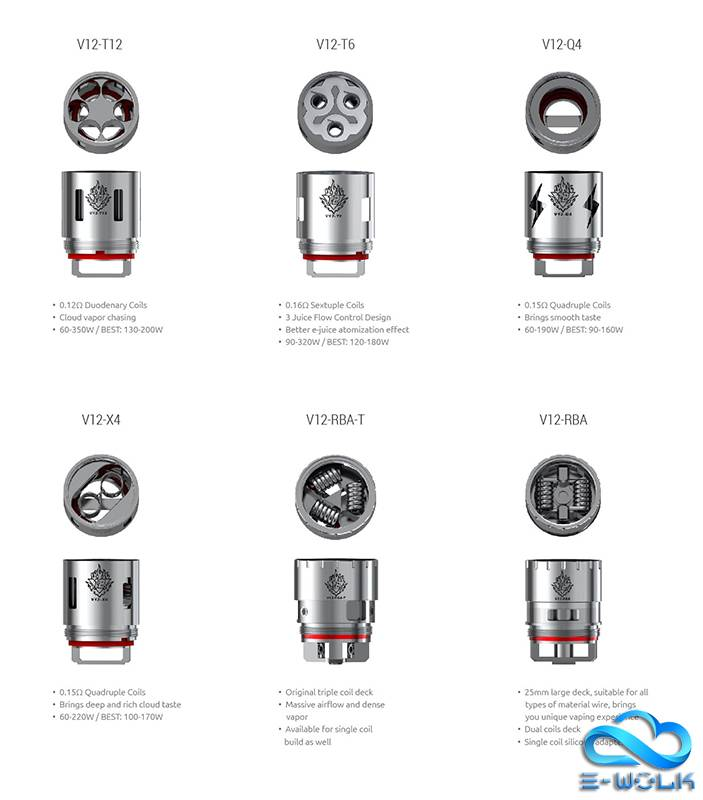 TFV12 Replacement Coils & RBA - E-wolk
