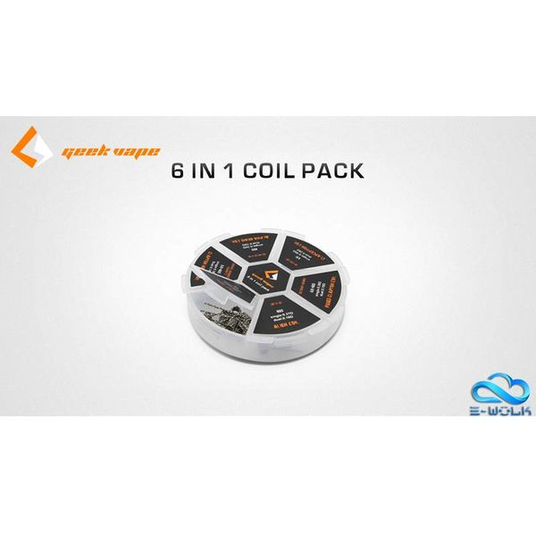 Geek Vape 6-in-1 Prebuilt Coils Pack